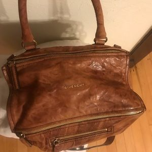 Givenchy- Medium Pepe Pandora' Leather Satchel